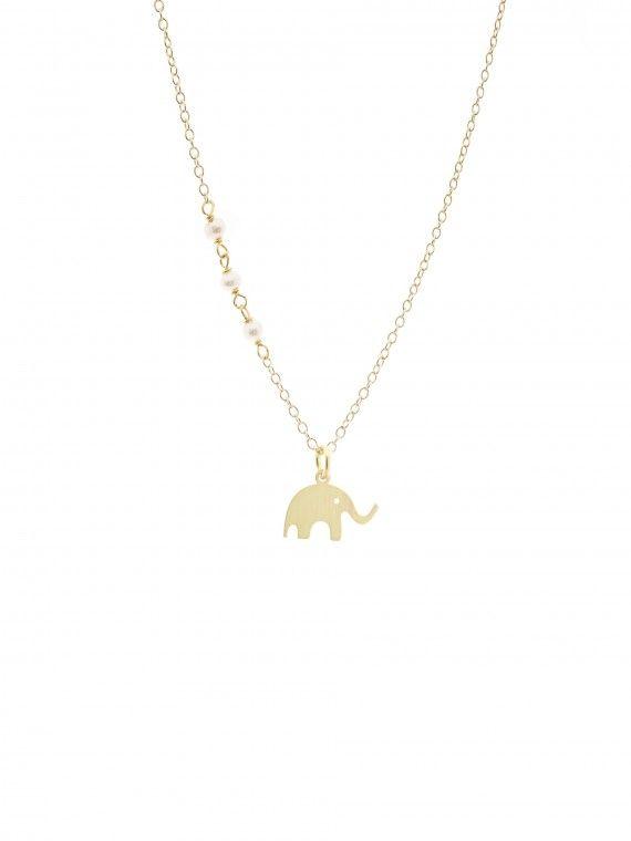 Fio 3 pérolas + medalha | Elefante