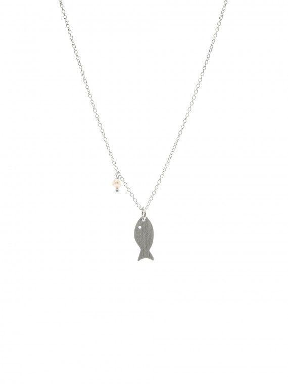 Fio 1 pérola + medalha | Peixe