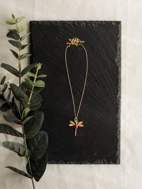 Fio libelinha prata dourada
