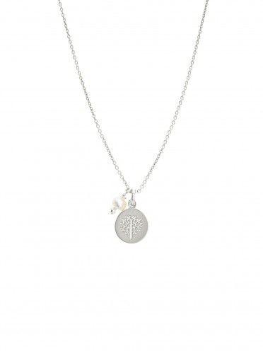 Fio pérola + medalha pequena   Árvore da vida
