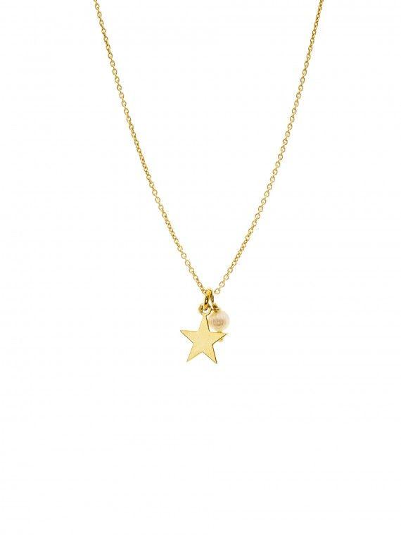 Fio pérola + medalha pequena | Estrela
