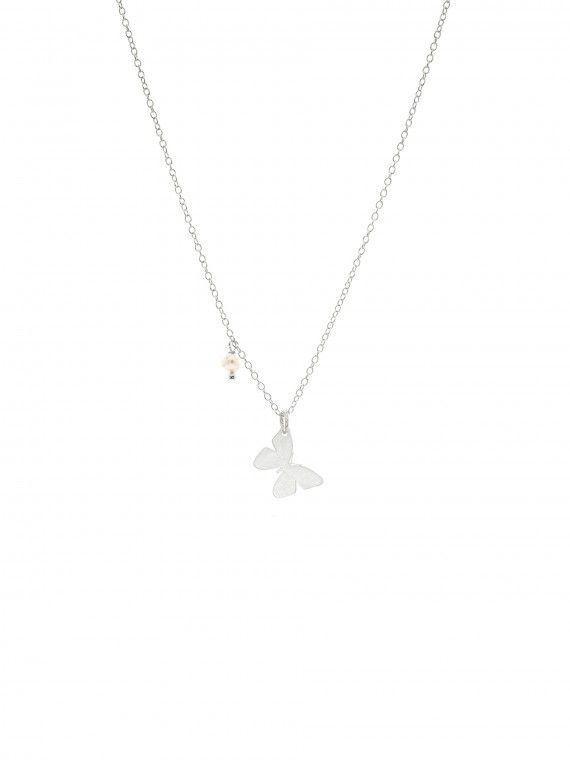 Fio 1 pérola + medalha | Borboleta