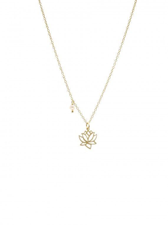 Fio 1 pérola + medalha | Flor de lótus