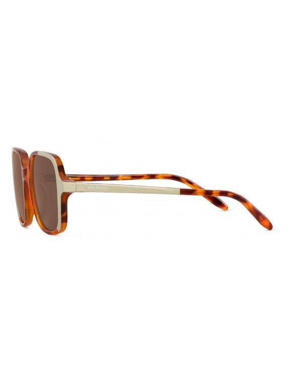 Óculos Belleville creme com padrão leopardo e tartaruga