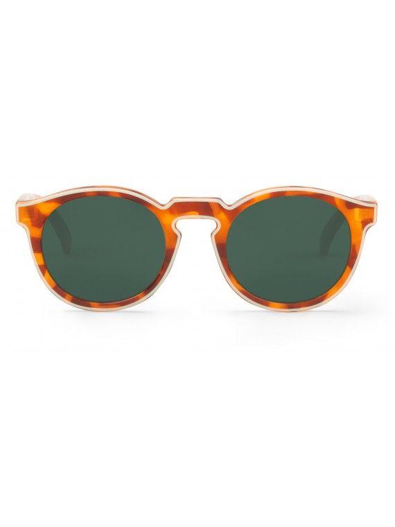 Óculos Jordaan creme com padrão tartaruga e leopardo