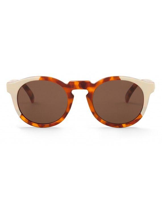 Óculos Jordaan creme com padrão leopardo e tartaruga