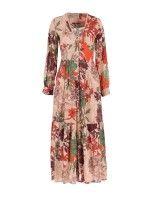 Vestido Com Padrão Floral E Botões
