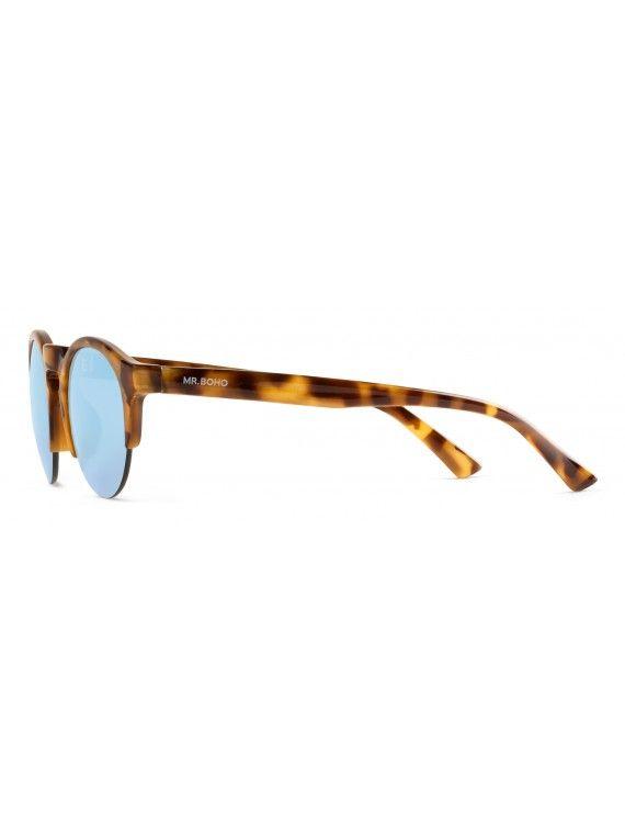 Óculos Born padrão tartaruga de alto contraste e lentes azul-celeste