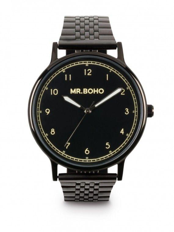 Relógio Heritage em preto