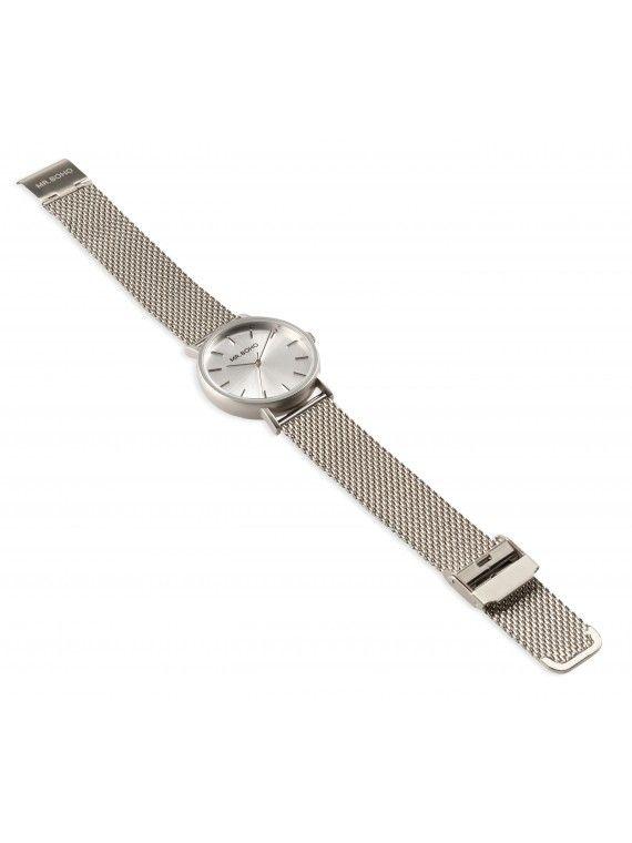 Relógio Metallic cadet monocromático em cinza