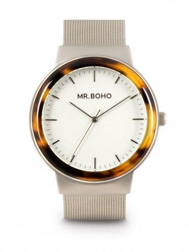 Relógio Metallic acetate em cinza