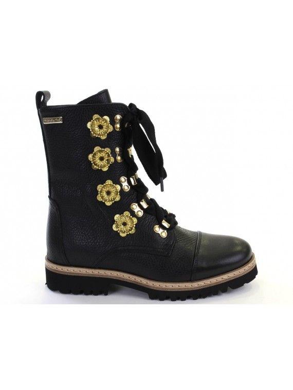 Caroline ankle pop flowers
