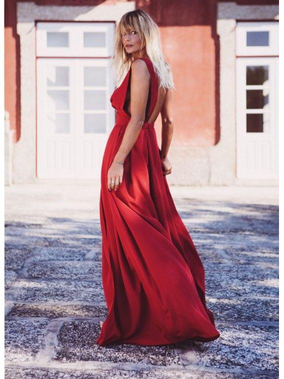 Vestido Comprido Vermelho