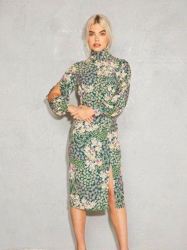 Vestido Verde Com Pequenas Flores