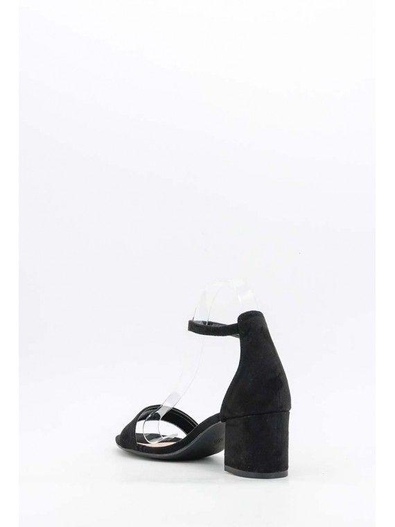 Sandália meio salto