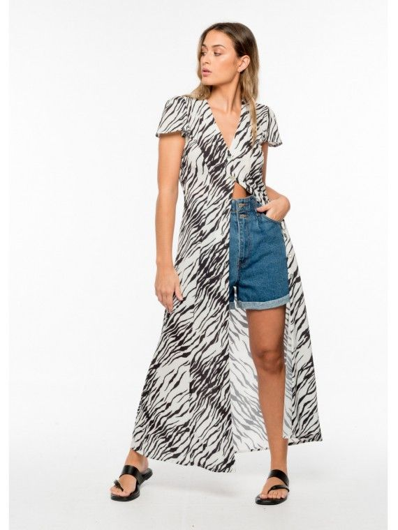 Vestido camisa zebra