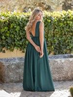 Vestido Verde Abertura De Lado