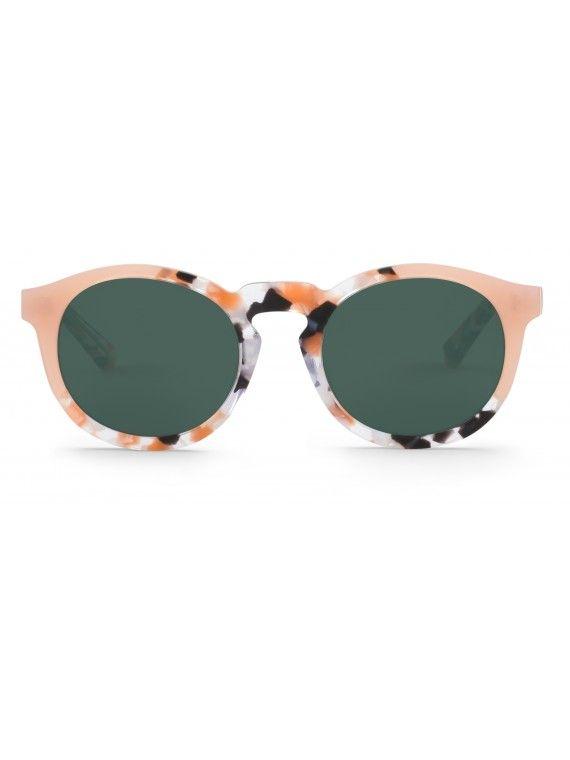 Óculos Jordaan pêssego e mármore cinza