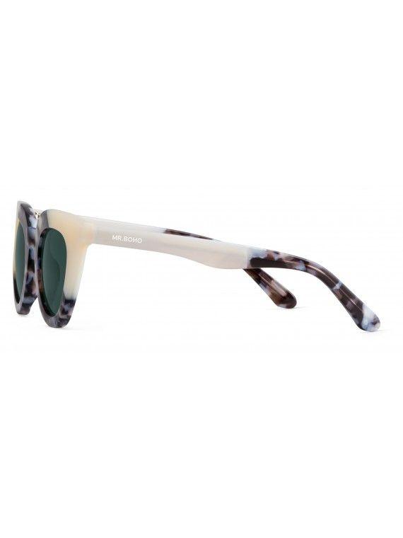 Óculos Hayes cremes e cinza