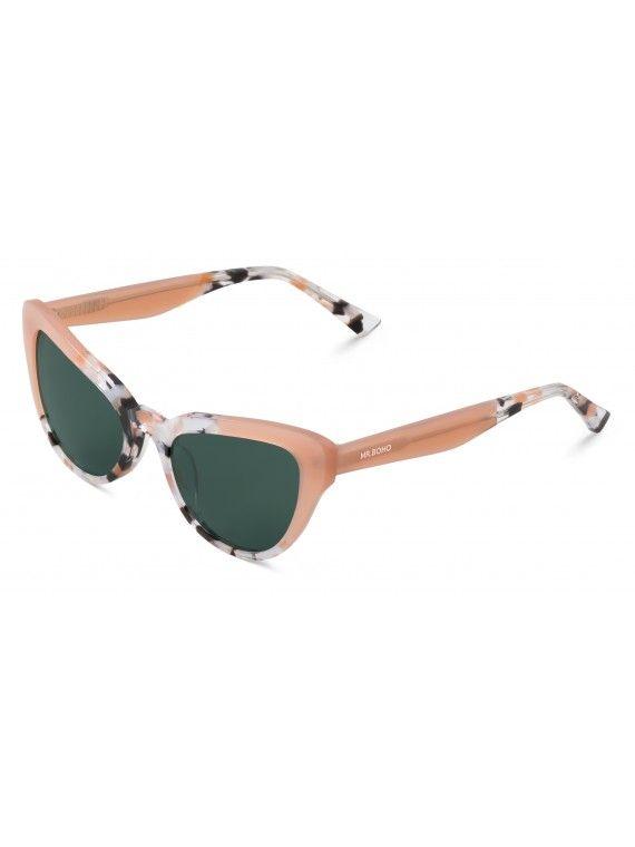 Óculos Vesterbro dourado com padrão