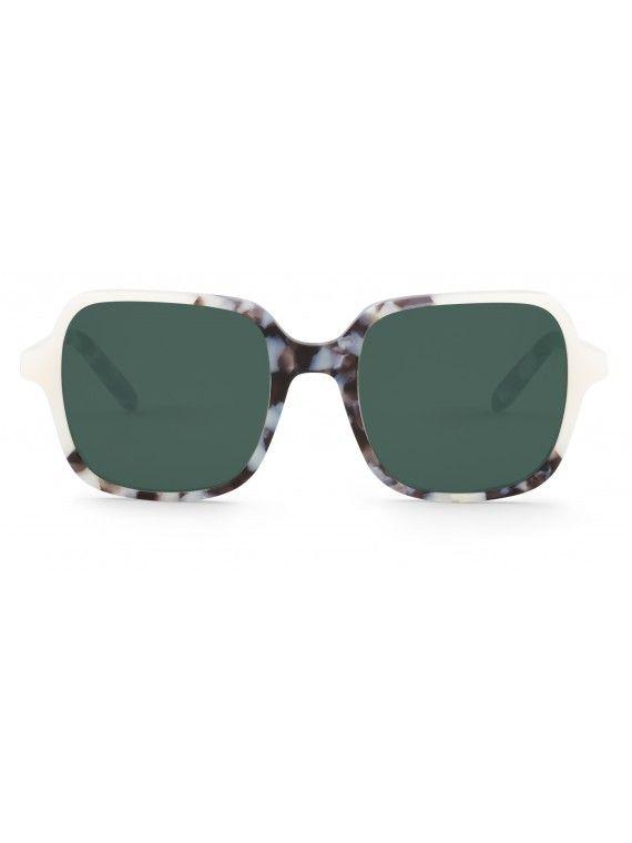 Óculos Belleville creme com padão tartaruga