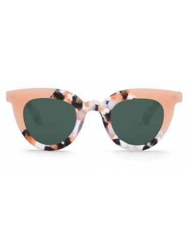 Óculos Hayes dourados com padrão