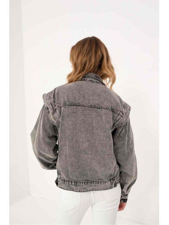80 s style denim jacket