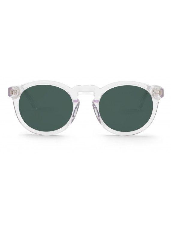 Óculos Jordan armação transparente com lentes clássicas