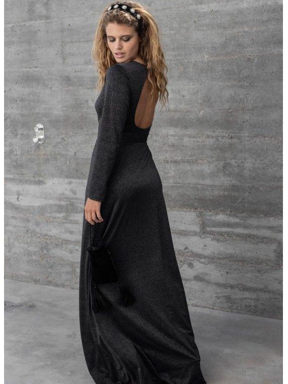 Vestido Preto Lurex