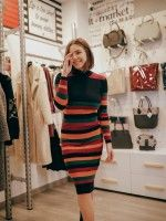 Vestido de malha com cores