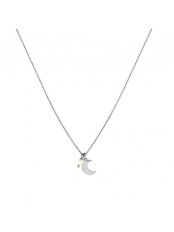 Fio pérola + medalha pequena | Lua