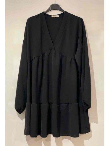 Vestido curto fluído