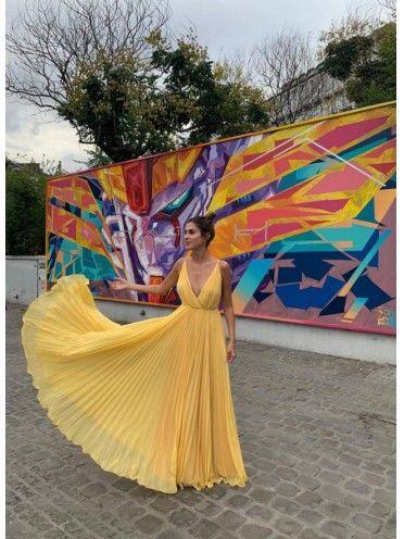 Vestido Comprido Amarelo