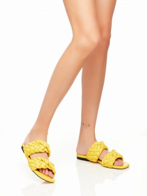 Sandália aberta dupla trança