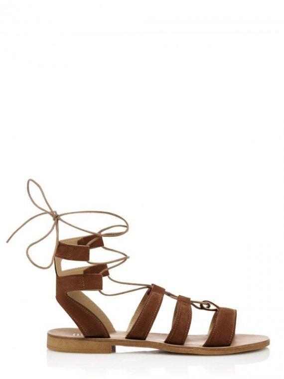 Sandálias Gladiadoras camurça